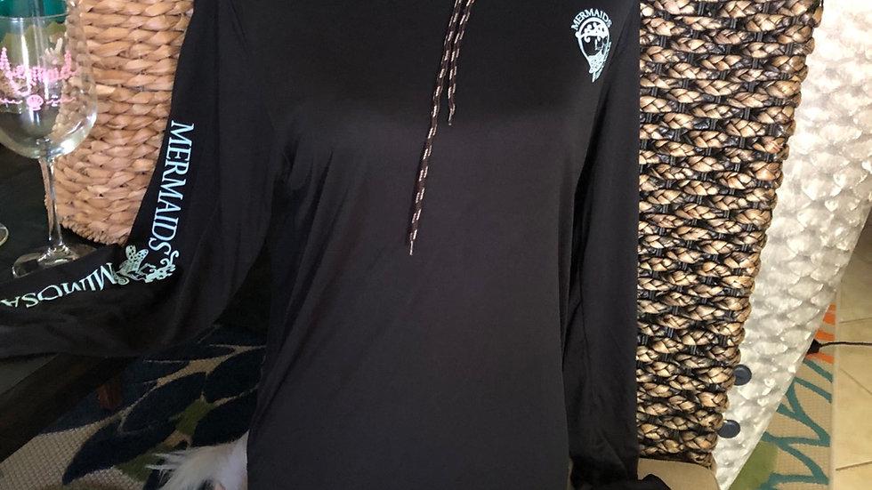 Black w/Tiffany Blue Crew Neck Sun Shirt