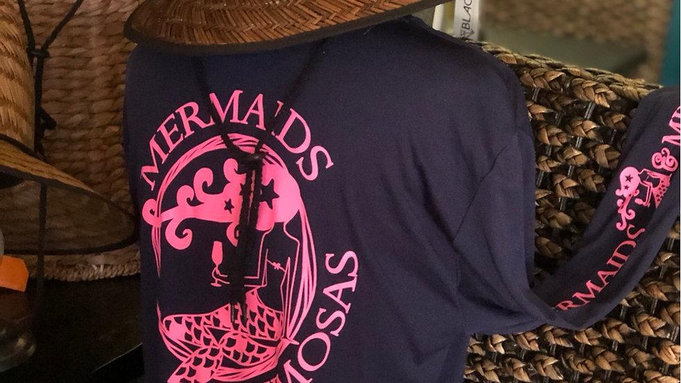 Navy Blue w/Pink Crew Neck Sun Shirt