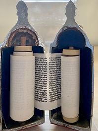 Miniature Torah scroll