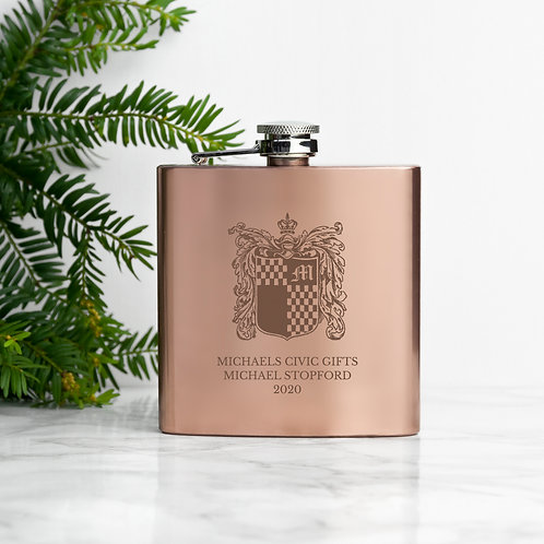Copper Plated Hip Flask