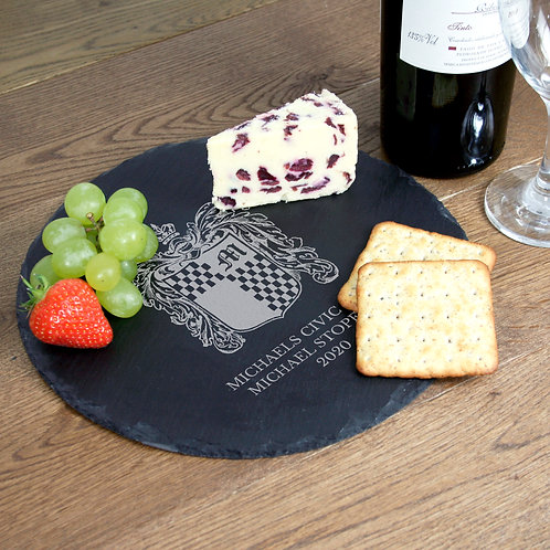 Ampersand Round Slate Cheese Board
