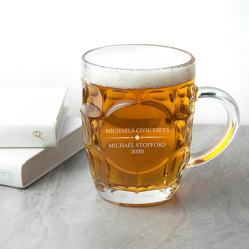 Personalised Dimpled Beer Glass