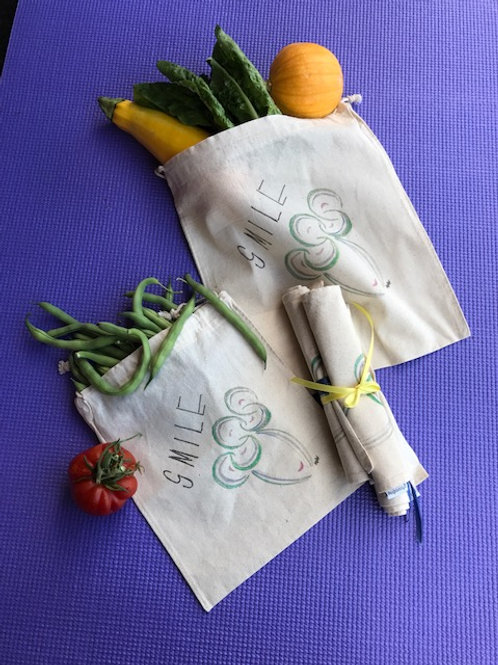 Med. and Lg. produce bags- Set of 3 each (total 6)