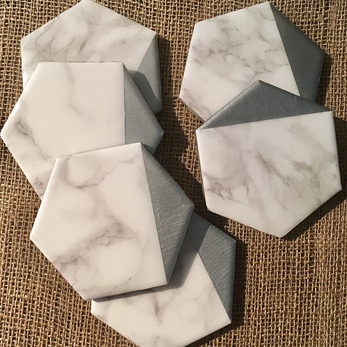 Marble and Silver Dipped