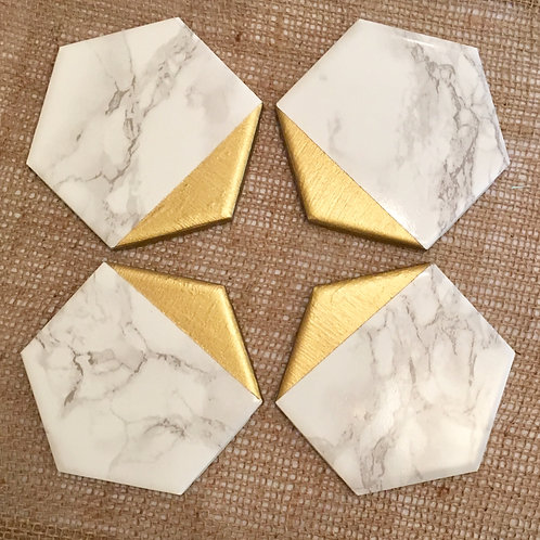 Marble and Gold Dipped