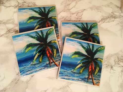 Palm Breeze Coasters Set