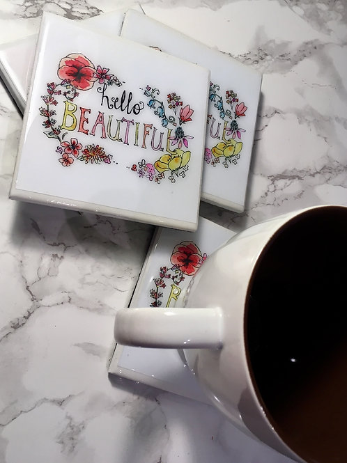 Hello Beautiful - Coasters