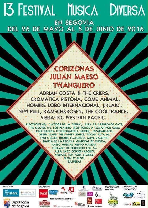 13 festival Música Diversa - Segovia
