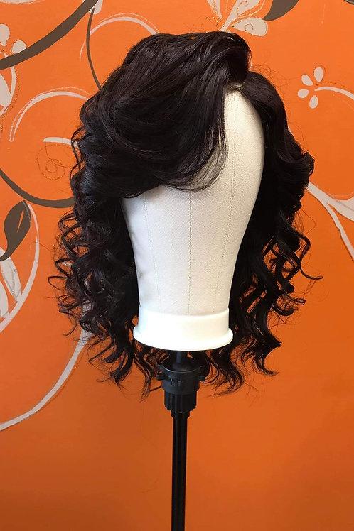"Charlotte E. Enhancements 18"" Human Hair 5×5 Lace Closure Wig"