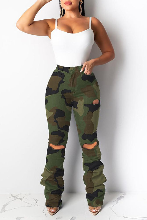 Ruched Camo