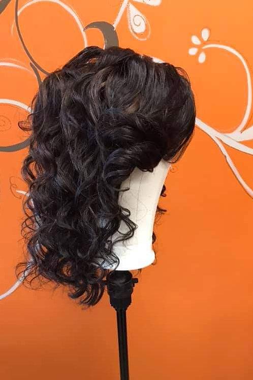 "Charlotte E. Enhancements 20"" Human Hair Lace Closure Wig"