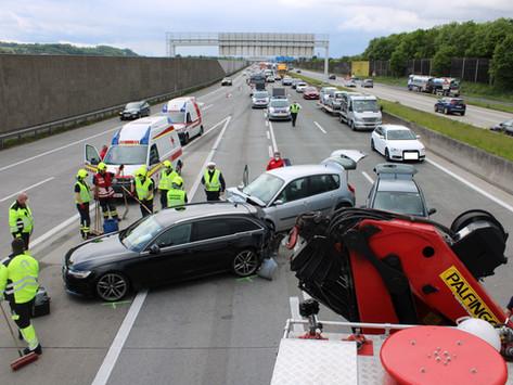 Verkehrsunfall auf der A1 FR Wien