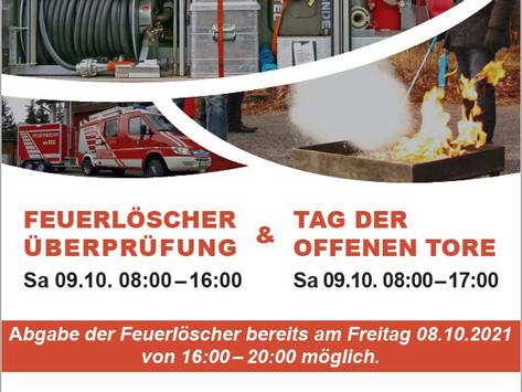 Feuerlöscherüberprüfung und Tag der offenen Tore