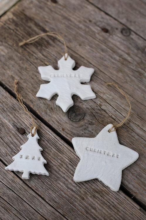 Conj. 3 decorações rústicas de Natal