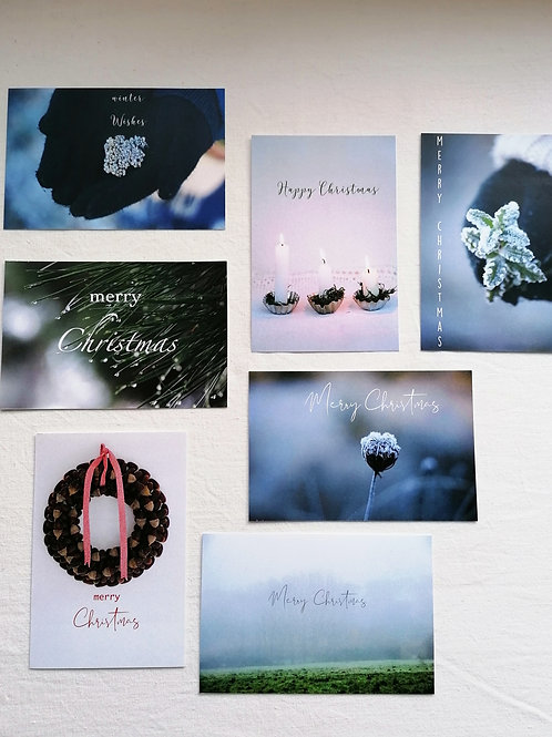 Christmas cards (set of 7)