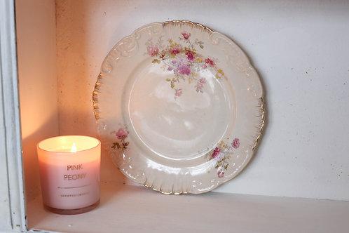 Prato flores cor de rosa