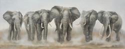 trouppeau d'éléphants 3 m x 1 m 20