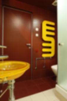 Квартира на Ходынке. Интерьер гостевого туалета.