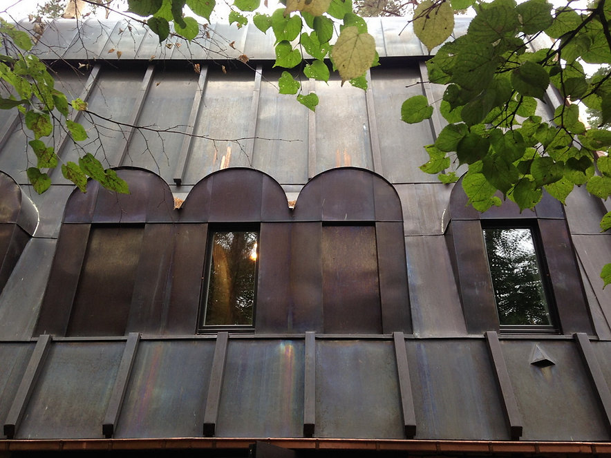 Дом в Сколково. Детали восточного фасада.
