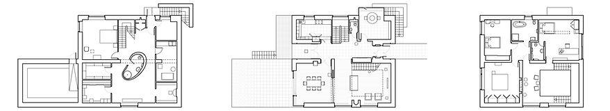 Дом в Харькове. Планы этажей.