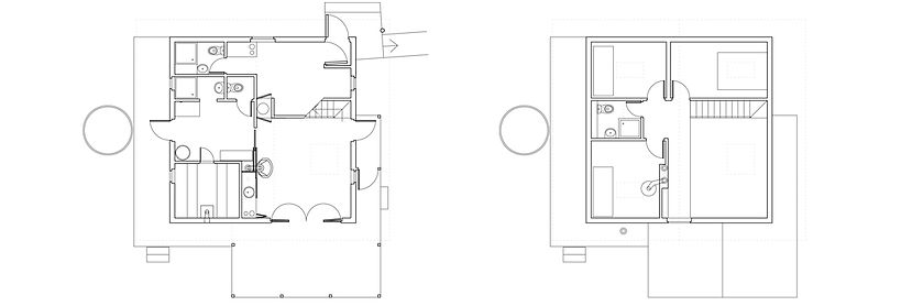 Дом на Медном озере. Планы этажей.