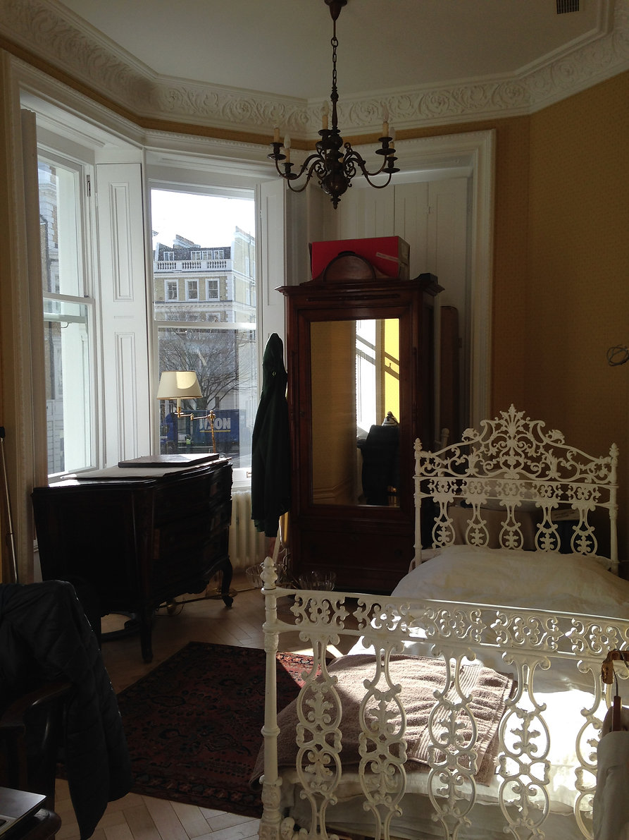 Квартира в Лондоне. Интерьер спальни.