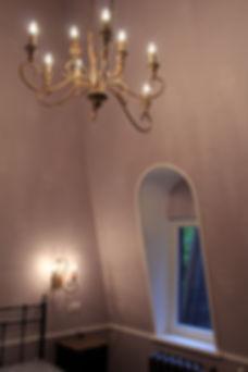 Дом в Сколково. Детали интерьера спальни.