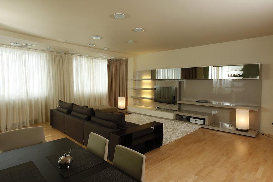 Квартира на Ходынке. Интерьер гостиной.