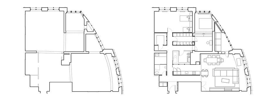 Квартира на Ходынке. Ситуационный план и общий план.
