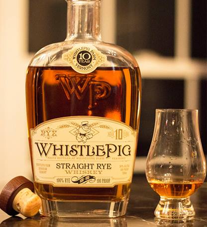 WHISTLE PIG 10 YEAR RYE WHISKEY