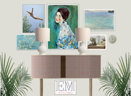 How to Gallery wall art, to reflect your personality.