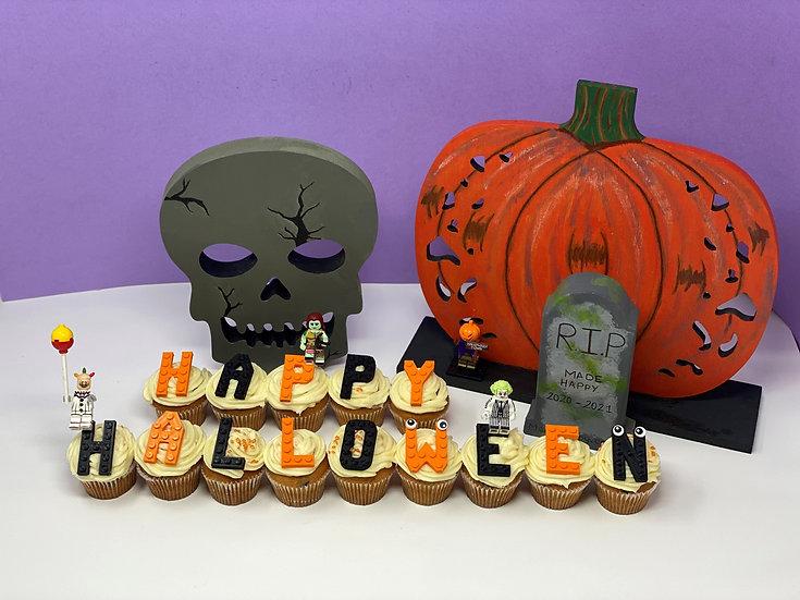 Halloween cupcake letters