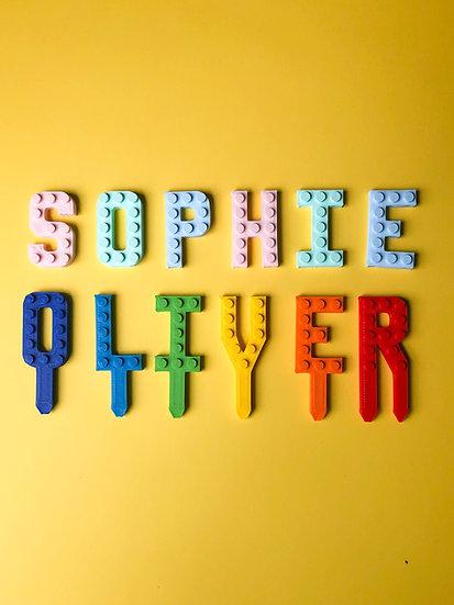 Brick Compatible Cake letters