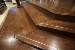 refinished steps