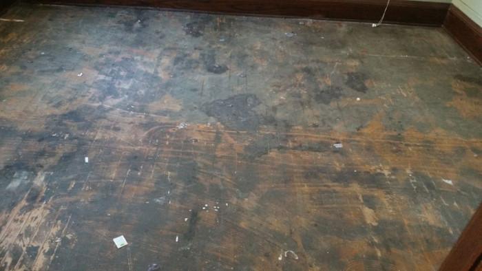 Kateri House - Before floor refinishing