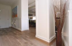 Mill Valley hallway between bathroom and dining room