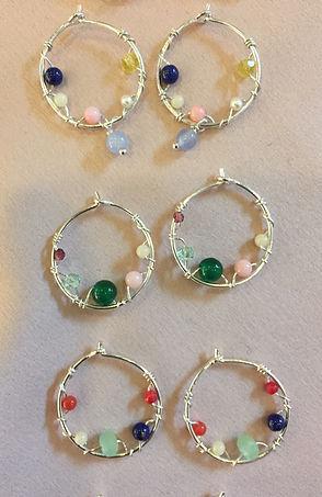 aurora earrings runde
