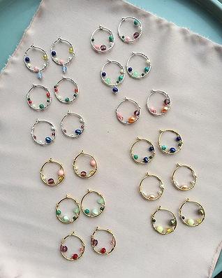 runde aurora earrings