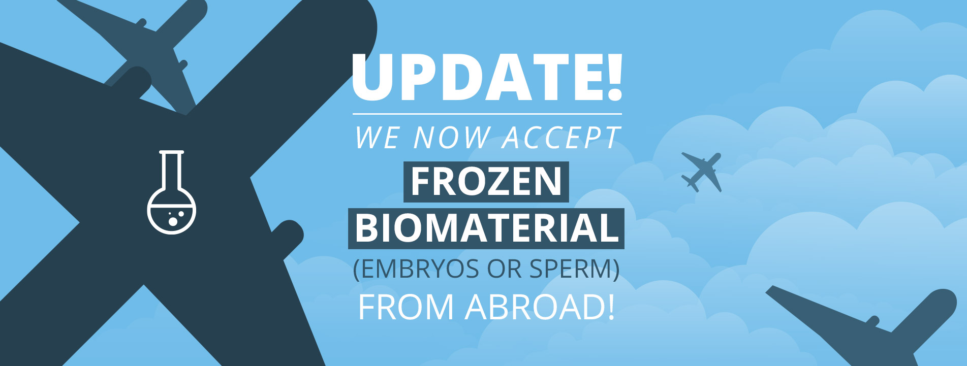 We now accept frozen biomaterial from abroad!