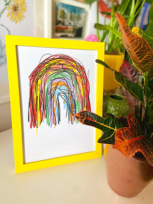 The Rainbow Print | PALM FLARES WALL ART