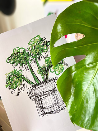 Wild Plant Print   PALM FLARES WALL ART
