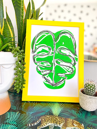 The Leafy Print | PALM FLARES WALL ART