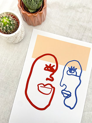 The Faces Print | PALM FLARES WALL ART