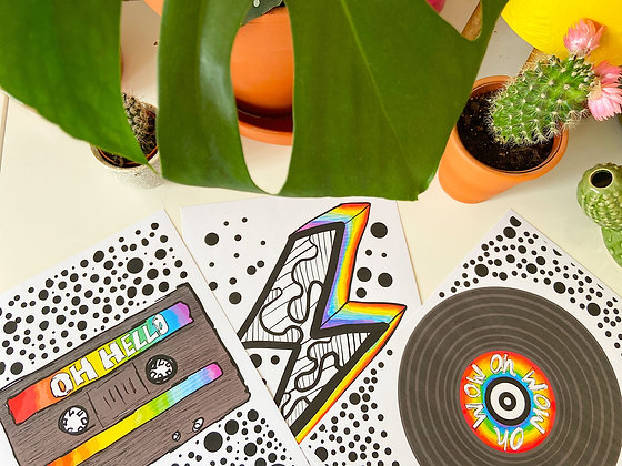 The Oh Cool Bundle | PALM FLARES WALL ART