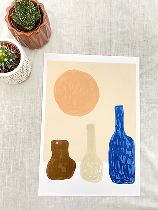 The Wine in the Sun Print | PALM FLARES WALL ART