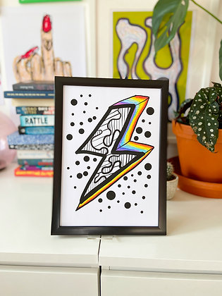 The Lightning Print | PALM FLARES WALL ART