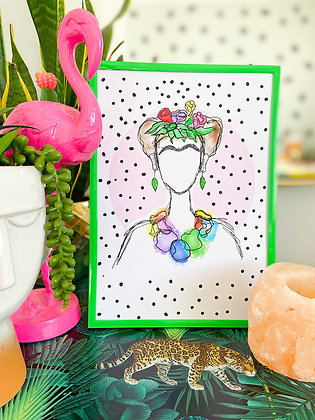 The Kahlo Print | PALM FLARES WALL ART