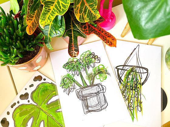 The Greenie Bundle | PALM FLARES WALL ART