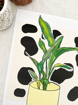 The Yellow Plant Print  | PALM FLARES WALL ART