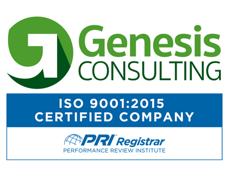 Genesis Consulting Partners, LLC Receives Accreditation for ISO 9001:2015